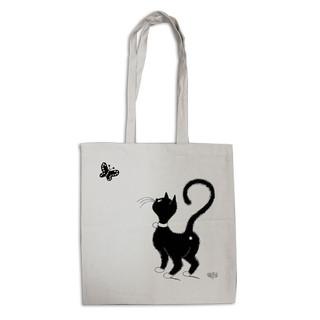 "Tote bag ""Chat Papillon"" 5401 (Eco bag Dubout)"