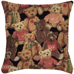"""Coussin """" Teddy """"  - Royal Tapisserie cushion tapestry Bears"""