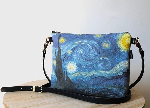 8972V6 sac bandoulière Nuit Etoilée de Van Gogh