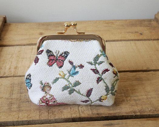 royal tapisserie porte monnaie marie antoinette coussin fabriqué en france tapestry handbag coin purse made in france
