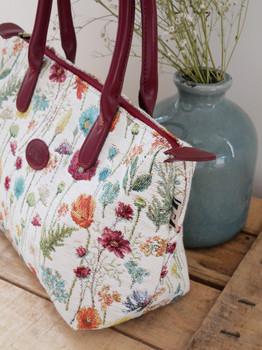 """Sac à main de la collection """"Fleurs des Champs"""" (ref 8945.74) Royal Tapisserie / Handbag tapestry"""