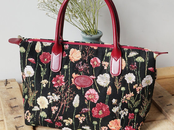 Sac à main fleurs en hiver Royal Tapisserie pochette trousse coussin handbag tapestry cushion pencil case flower garden