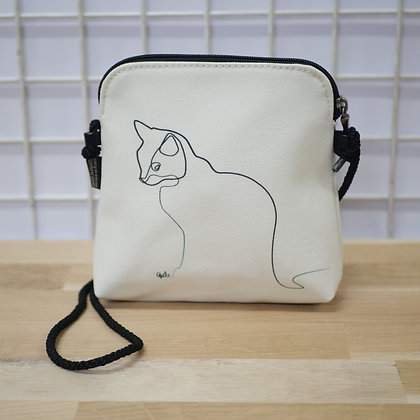 8971CB sac 3 courses Chat Blanc de QUIBE
