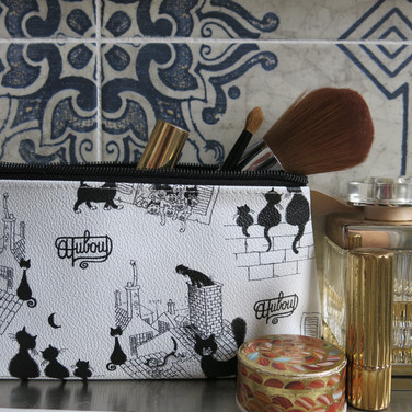 Pochette maquillage Les Chats de Dubout
