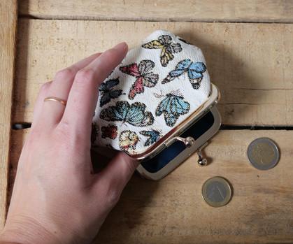 """Porte-monnaie rétro de la collection """"Papillons"""" (ref 402.68) Royal Tapisserie / coin purse tapestry"""