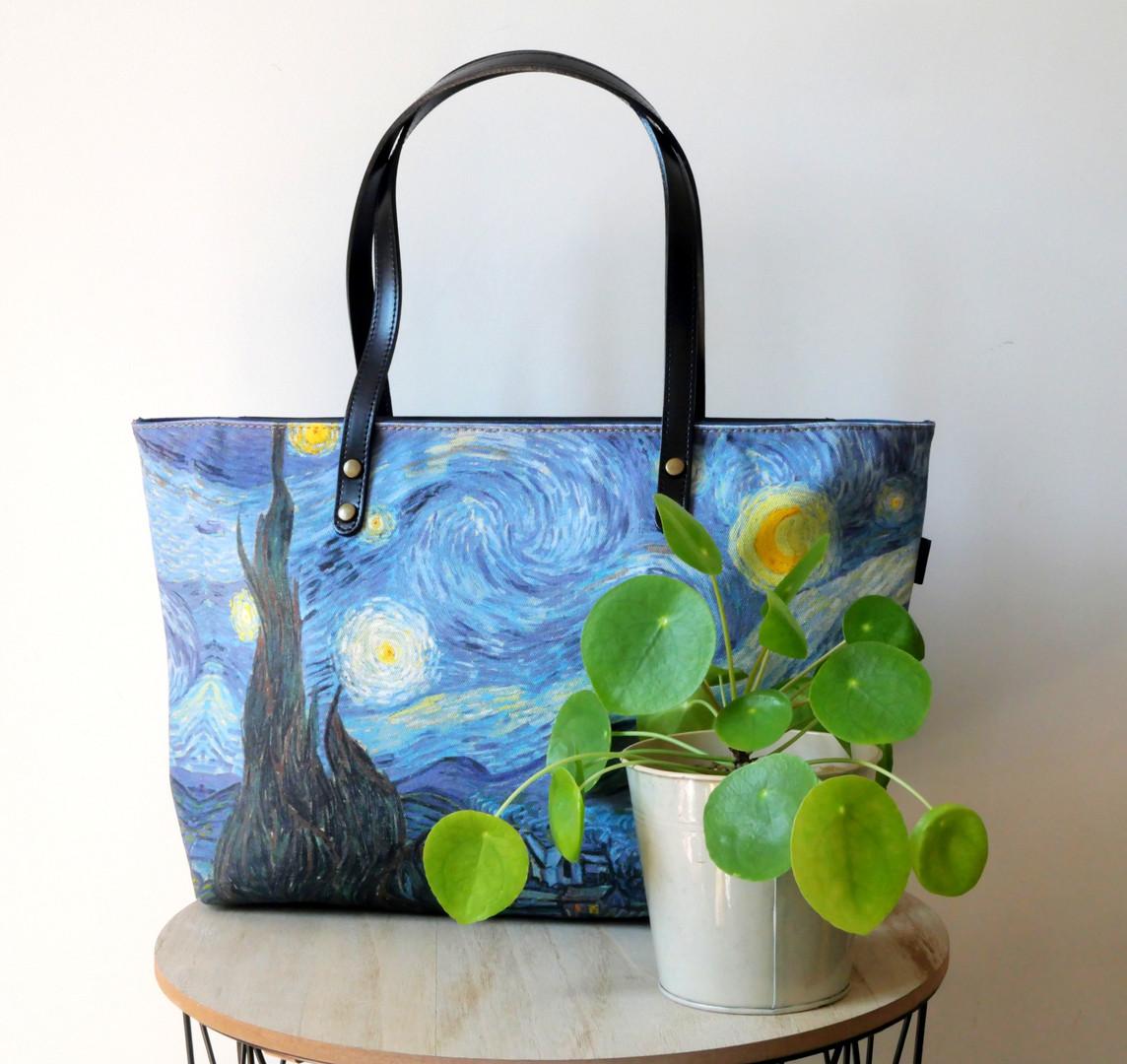 Maison Martin par Royal Tapisserie sac shopping Nuit Etoilée de Van Gogh (référence 8975V6)
