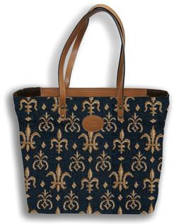 """Sac shopping """"Fleurs de Lys"""" - Référence Royal Tapisserie 8976"""