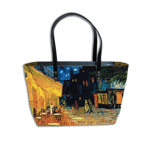 """Sac shopping """"Terrasse du café le soir"""" Van Gogh - Référence 8975V1"""