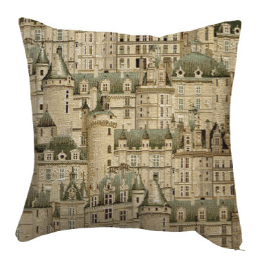tapestry cushion versailles castles royal tapisserie made in france woven fabric paris loire castle tapestry