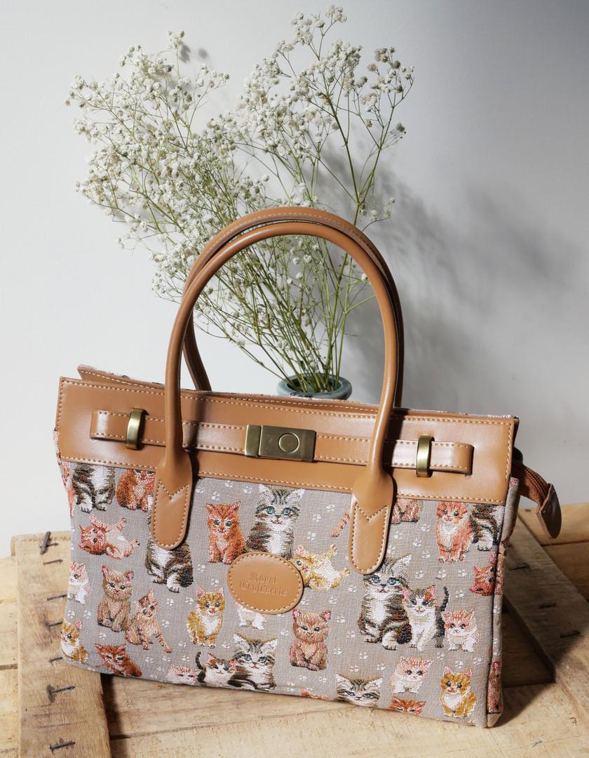 "Sac à main de la collection ""Chatons"" (ref 8967.71) Royal Tapisserie / Handbag tapestry"