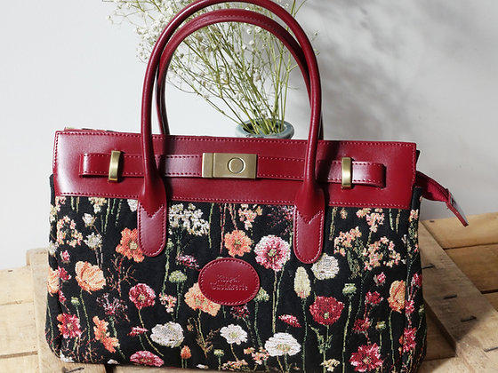 Sac à main fleurs en hiver Royal Tapisserie pochette trousse coussin handbag tapestry cushion pencil flower garden
