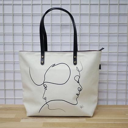 quibe kiss sac à main femme illustrateur français dessinateur france fabriqué en france poster affiche tatouage