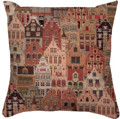 """Coussin """" Village"""" - Royal Tapisserie cushion tapestry"""