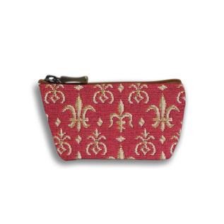 """Porte monnaie zippé de la collection """"Fleurs de Lys Rouge"""" - Référence 419.83  Royal Tapisserie"""