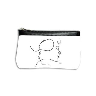 """Trousse maquillage Quibe Dessin : """"Presque"""" fond blanc  Référence: 8850PB Maison Martin"""