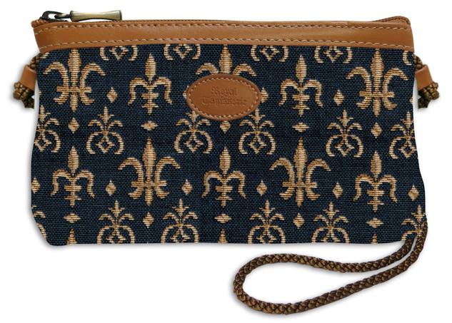"""Nouveau sac cordon """"Fleurs de Lys"""" - Référence Royal Tapisserie 8977"""