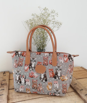 "Sac à main de la collection ""Chatons"" (ref 8945.71) Royal Tapisserie / Handbag tapestry"