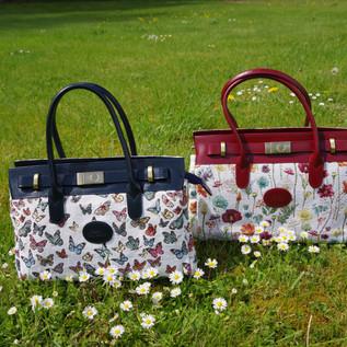 """Sac à main dessin """"Papillons"""" et """"Fleurs des Champs"""" (ref 8967.68 et 8967.74) Royal Tapisserie / Handbag tapestry"""
