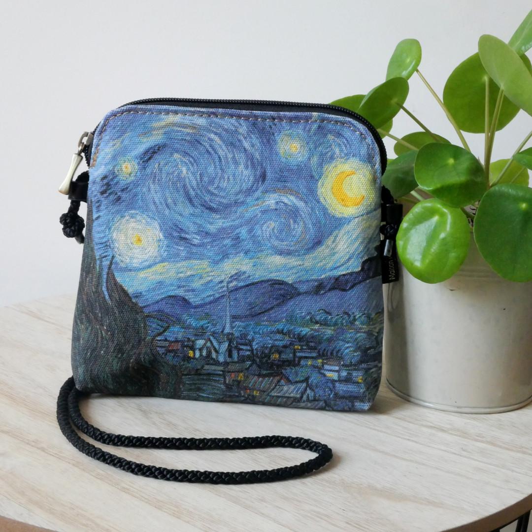 Maison Martin par Royal Tapisserie sac cordon Nuit Etoilée de Van Gogh (référence 8971V6)