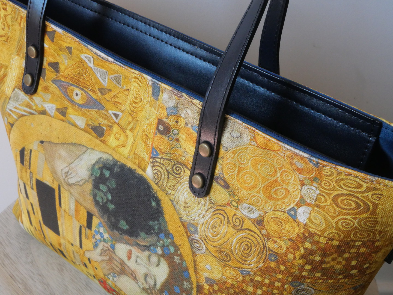 "Maison Martin par Royal Tapisserie sac shopping ""Le Baiser"" de Gustav Klimt (référence 8975K1)"