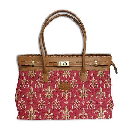 8963.83 Maxi bag Fleurs de Lys rouge