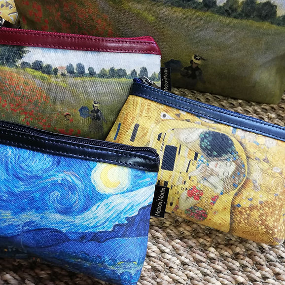 royal tapisserie maison martin tapestry poppies claude monet handbag coin purse pencil case glasses case