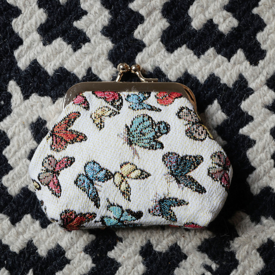 "Porte-monnaie rétro de la collection ""Papillons"" (ref 402.68) Royal Tapisserie / coin purse tapestry"
