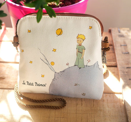 cadeau Le Petit Prince planète fabriqué en france sac à main trousse pencil case handbag coin purse The Little Prince