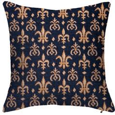 Coussin Fleurs de Lys  - Royal Tapisserie cushion tapestry (Lilies flower)