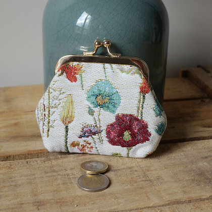 porte monnaie fleurs des champs trousse coussin Royal Tapisserie tapestry handbag pencil case cushion coin purse paris