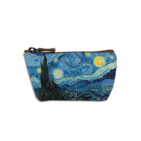 """Porte-monnaie zippé """"Nuit Etoilée"""" Van Gogh- Référence 419V6"""