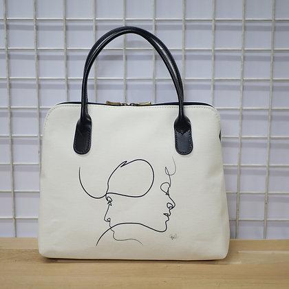 8887PB sac à main Presque blanc de Quibe