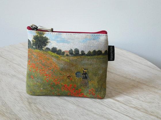 438M2 porte-monnaie carré Les Coquelicots de Claude Monet