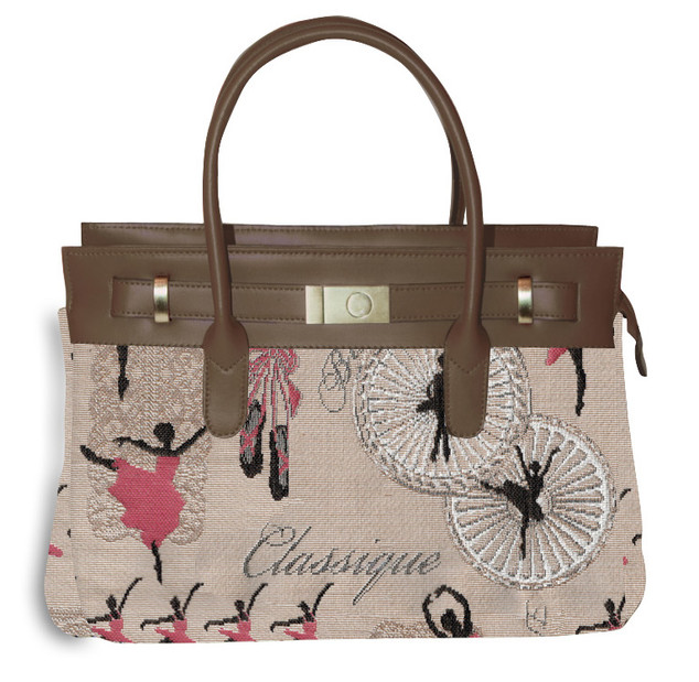 "Sac porté main + bandoulière amovible - Collection ""Ballerines"" Royal Tapisserie"