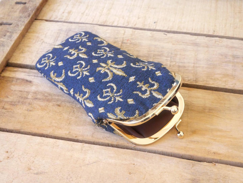 """Etui à lunettes rétro de la collection """"Fleurs de Lys bleu"""" (ref 405.9) Royal Tapisserie / Glasses case tapestry"""