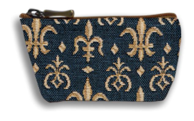 """Porte-monnaie zippé """"Fleurs de Lys"""" - Référence Royal Tapisserie 419"""