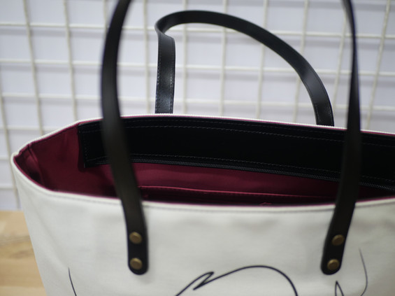 """Sac shopping QUIBE """"Presque Blanc"""" Référence 8976PB"""