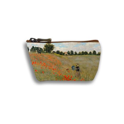 """Porte-monnaie zippé """"Les Coquelicots"""" Claude Monet - Référence 419M2"""
