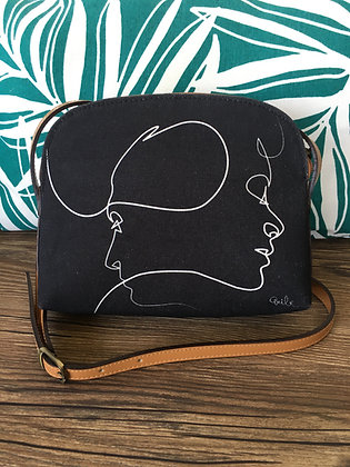 8901PN sac bandoulière Presque noir de Quibe
