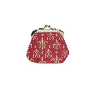 """Porte-monnaie rétro de la collection """"Fleurs de Lys ROUGE""""  Référence 402.83 Royal Tapisserie"""