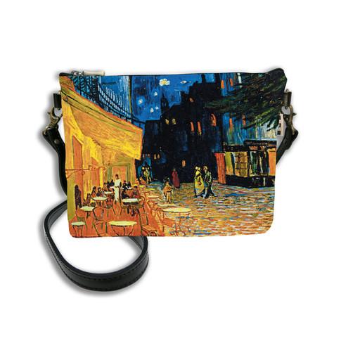 """Sac mousquetons bandoulière """"Terrasse du café le soir"""" Van Gogh - Référence 8972V1"""