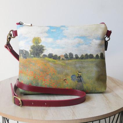 """Maison Martin par Royal Tapisserie sac bandoulière """"Les Coquelicots"""" de Claude Monet (référence 8972M2)"""