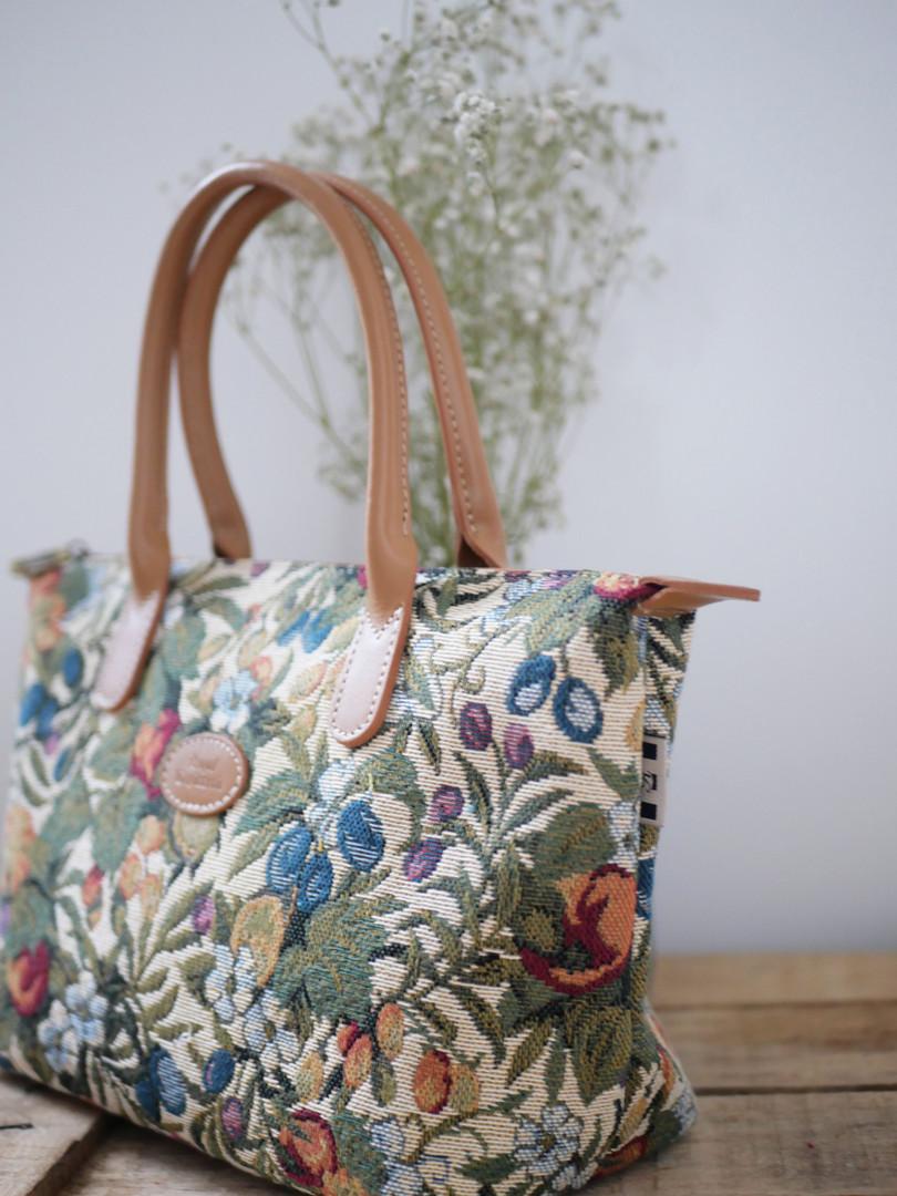 """Sac à main de la collection """"Fleurs de Prunier"""" (ref 8945.1) Royal Tapisserie / Handbag tapestry"""