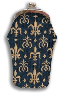 """Etui à lunettes rétro """"Fleurs de Lys"""" - Référence Royal Tapisserie 405"""