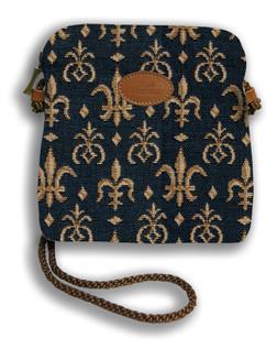 """Petit sac cordon """"Fleurs de Lys"""" - Référence Royal Tapisserie 8971"""