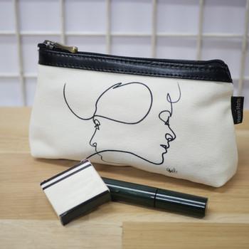 """Quibe Trousse à maquillage """"Presque Blanc"""" Référence 8850PB"""