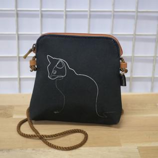 """Petit sac cordon QUIBE """"Chat Noir"""" Référence 8971CN"""