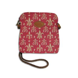 """Petit sac cordon de la collection """"Fleurs de Lys ROUGE"""" - Référence 8971.83 Royal Tapisserie"""