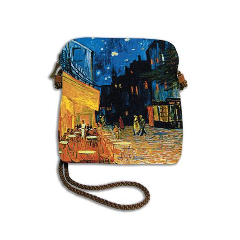 """Petit sac cordon """"Terrasse du café le soir"""" Van Gogh - Référence 8971V1"""
