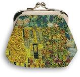 porte monnaie tapisserie Gustav Klimt Royal Tapisserie sac à main coussin tapisserie murale fabriqué en france royale gustav klimt france le baiser The kiss tapestry made in France handbag cushion coin purse paris